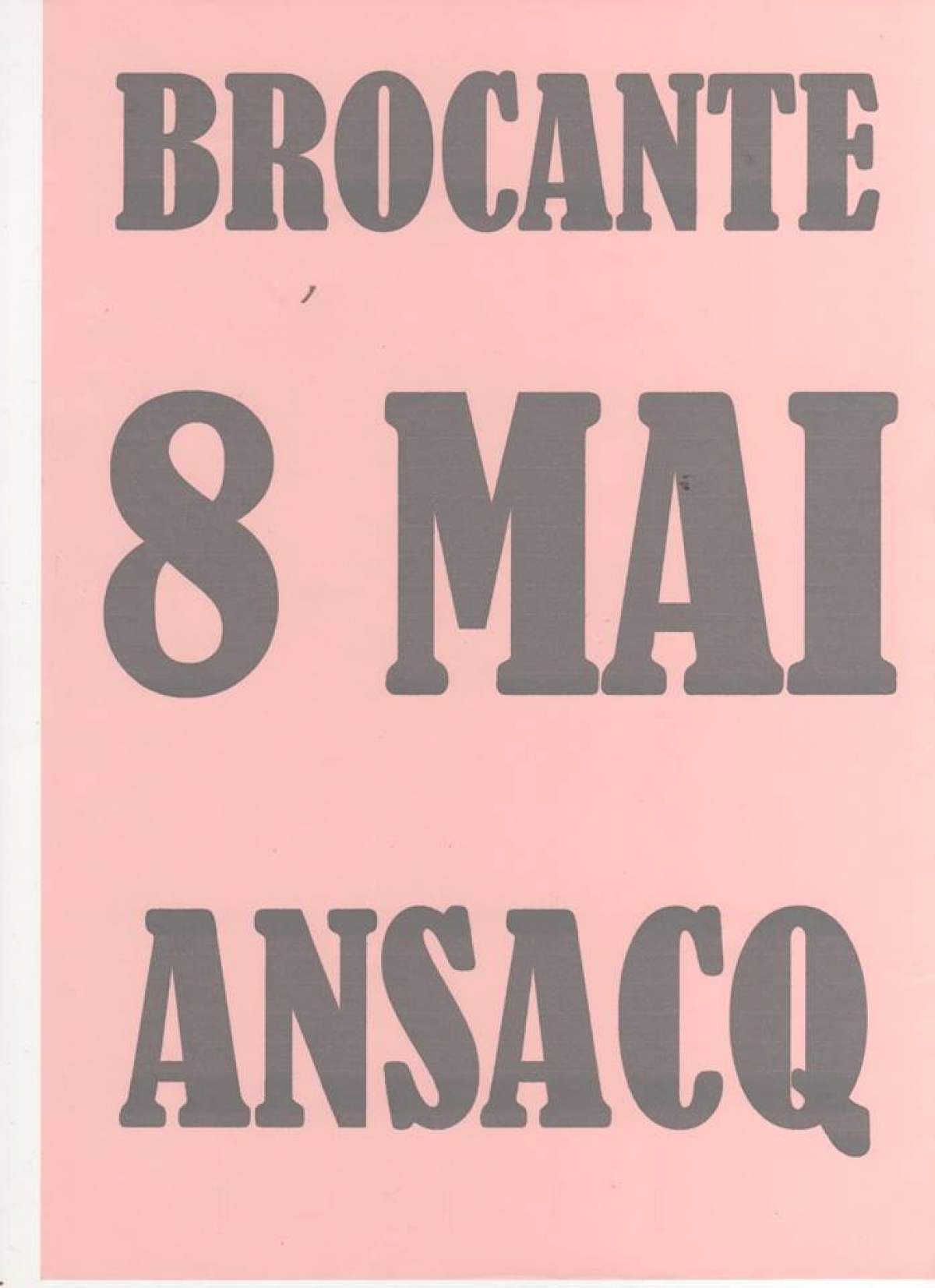 brocante d 39 ansacq le 8 mai l 39 agenda sorties evasion evasion. Black Bedroom Furniture Sets. Home Design Ideas