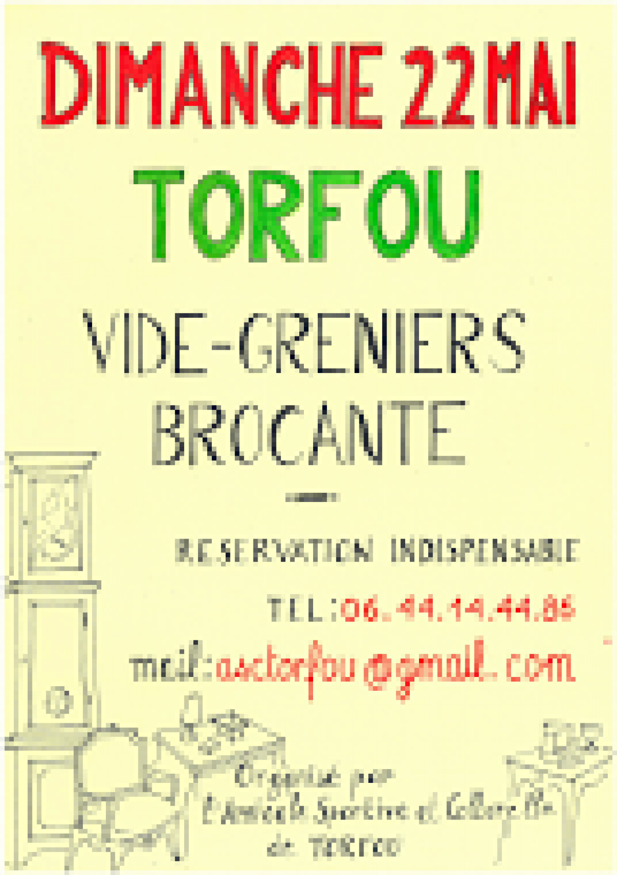 brocante vide greniers torfou l 39 agenda sorties evasion evasion. Black Bedroom Furniture Sets. Home Design Ideas